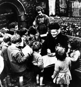MARIA MONTESSORI VISITS SCHOOL